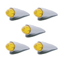 Chrome LED Cab Light Grakon 1000 Style Competition Series Amber/Amber Set Of 5
