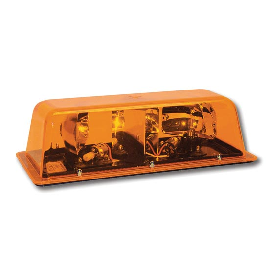 Mini Strobe Light Bar Amber Amber Magnetic Mount 4