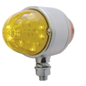 17 Diode Amber & Red LED Double Face Auxiliary Cab Light With Amber & Red Watermelon Style Lens