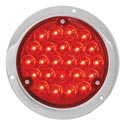 4 Inch LED Stop/Turn/Tail Light Red/Red with Housing
