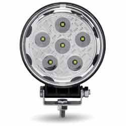 LED Work Light Round 14 Diode 1800 Effective Lumens With 360 Degree Side Diodes