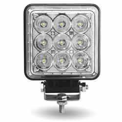 LED Work Light 4.5 Inch Square 33 Diode 2800 Lumens With 360 Degree Side Diodes