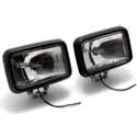 4 X 6 Inch Rectangular Driving Lights Clear Halogen (Pair)