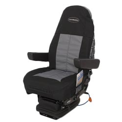 Coverall Seat Cover Black/Grey Two Tone
