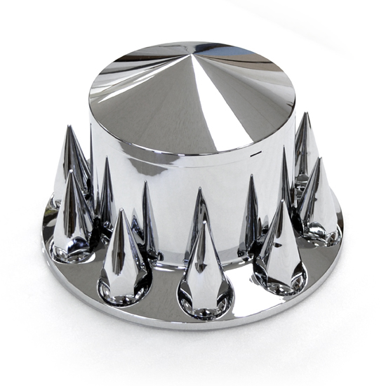 Semi Truck Hub Caps : Rear axle cover w pointed center cap spike nut covers