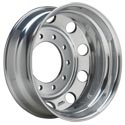 Polished Aluminum Front Steer Wheel 24-1/2 Inch x 8-1/2 Inch