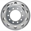 Polished Aluminum Front Steer Wheel 24-1/2 Inch