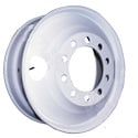 24.5 Inch Budd White Powder-Coated Steel Wheel With 2 Hand Holes
