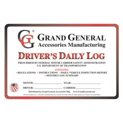 Drivers Daily Log Book With Simplified DVIR