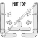 10 Inch Peterbilt Exhaust Kit - 114 Inches Tall with Flat Top