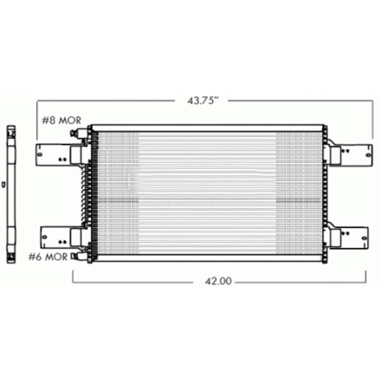 11 070001_l ac condenser for mack ch613 models 1994 2004 4 state trucks Mack CH600 at panicattacktreatment.co