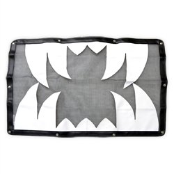 Black & White Saber Tooth Bug Screen Fits Mack CH, CHN & CHU