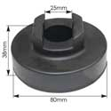 3.15 Inch Rubber Lower Radiator Mount Fits Volvo VNL, VNM & VNX