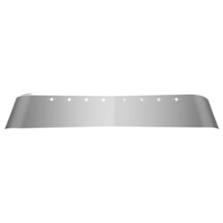 Stainless Steel Dropped Visor - 17in For Volvo w/Light Holes