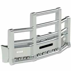 Herd Super Road Train Grille Guard For Western Star 4900 SBA With Drop Cradle Frame & Raised Cab 2008-2017