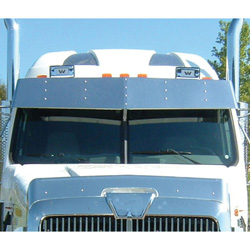 Stainless 15 inch Drop Visor Fits Western Star Constellation