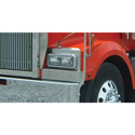 Stainless Steel Fender Shield Fits Western Star 4964 Constellation (Pair)