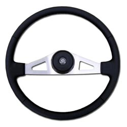 Brushed Nickel 2 Spoke Steering Wheel - 20in