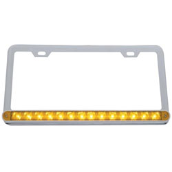 Chrome 14 Diode LED License Plate Frame