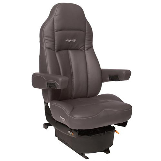 Gray Ultra Leather Legacy Lo Seat 4 State Trucks