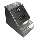 18 X 20 Inch Smooth Aluminum Step Box With Tread Plate Door