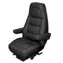 Bostrom Wide Ride LoPro Seat Black Leather with Armrests