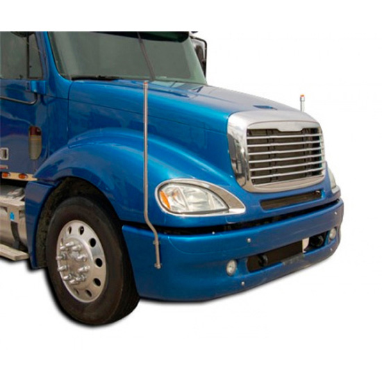 Chrome Bumpers For Fld 120 : Led bores bumper guides for freightliner fld