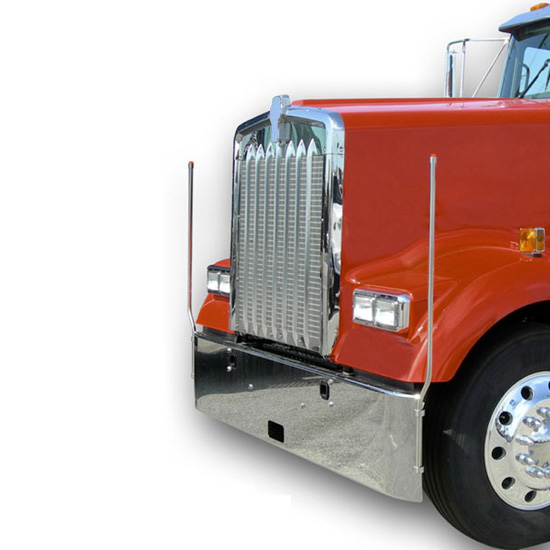 Bores Stainless Steel Bumper Guides With LED Fits International, Kenworth,  Mack & Western Star