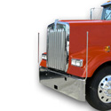 LED Bores Bumper Guides For Kenworth - International - Mack