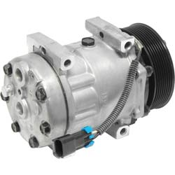 AC Compressor With 8 Groove Clutch Fits Freightiner & Sterling - Replaces 22-64074-000