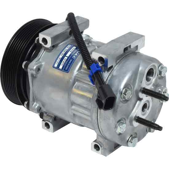 AC Compressor With Pulley SD7H15HD Style Assembly Fits Peterbilt & Kenworth  - Replaces F69-1015-151