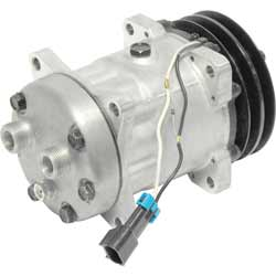 AC Compressor 12 Volt Ear Mount With 2 Groove Clutch For Peterbilt & Freightliner