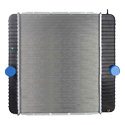 Plastic Aluminum Radiator With Oil Cooler 20.5 X 25.125 Inch Fits Ford F650/750, International 4100-4400 & DuraStar