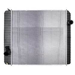 Plastic Aluminum Radiator With Oil Cooler 28.5 X 28.75 Inch Fits Ford F650-750 & International 4100-4400 & DuraStar