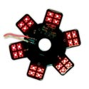 Air Cleaner LED Glow Panel for Donaldson & Vortox Red 5 Inch Dia.