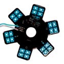Blue LED Glow Panels for Air Breather - 5 Inch with 24 Diodes