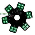 Air Cleaner LED Glow Panel for Donaldson & Vortex Green 5 Inch Dia.