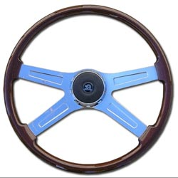 20 Inch 4 Spoke Wood Rim Steering Wheel Fits Freightliner/Kenworth/Peterbilt Fixed Columns