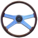 4 Spoke 20in Mahogany Steering Wheel - Peterbilt & Kenworth