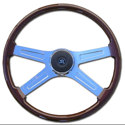 20in 4 Spoke Wood Steering Wheel - Mack - WS - Volvo