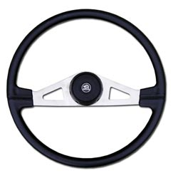 20 Inch Nickel 2 Spoke Molded Steering Wheel Fits Kenworth, Peterbilt & Freightliner Fixed Columns
