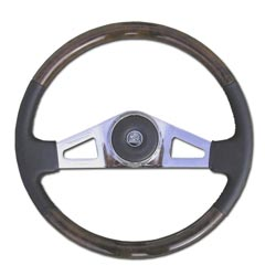 18in Wood Steering Wheel - 2 Spoke - Pete & Kenworth