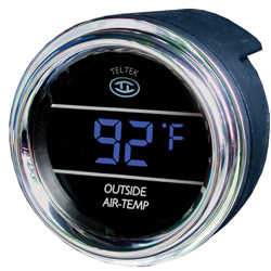 Blue Digital Outside Air Temperature Gauge