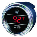 Red Digital Outside Air Temperature Gauge With Ice Warning