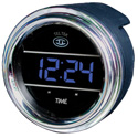 Teltek Blue Digital Clock Gauge