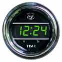 Green Display Digital Clock Gauge