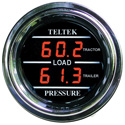 Red Digital Dual Display Gauge Load Pressure Tractor/Trailer