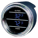 Digital Dual Display Gauge Temperature Inside/Out - Blue Display