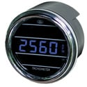 Blue Digital Tachometer Gauge