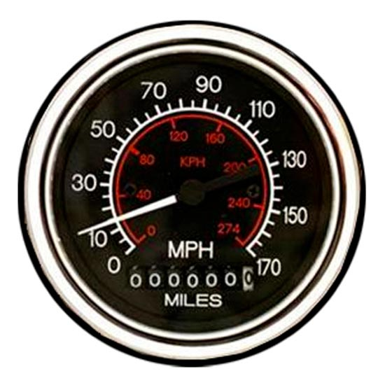 3 375 Inch Electric Speedometer - 170 MPH